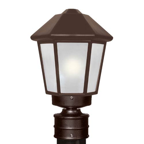 Costaluz 3272 Series Aluminum Incandescent Outdoor Post Light with Bronze Glass