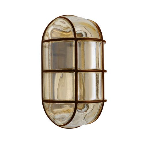 Besa Lighting Costaluz 3961 Series Aluminum One-Light Incandescent Wall Sconce with Bronze Glass