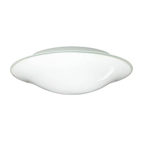 Besa Lighting Luma Aluminum Three-Light Incandescent 120v Flush Mount with Opal Glossy and Clear Glass