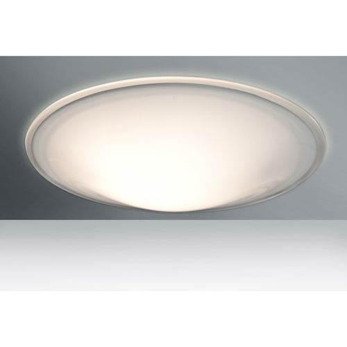 Luma Slim 18 Opal Glossy Three-Light LED Flush Mount