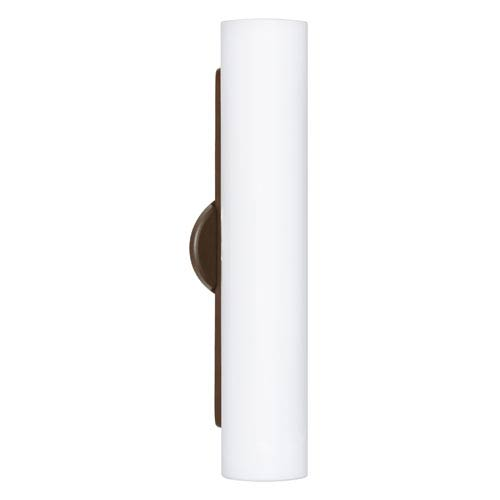 Besa Lighting Baaz Bronze Three-Light Incandescent Wall Sconce with Opal Matte Glass