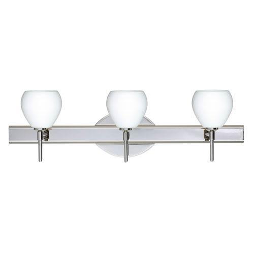 Tay Tay Chrome Three-Light Bath Fixture with Opal Matte Glass