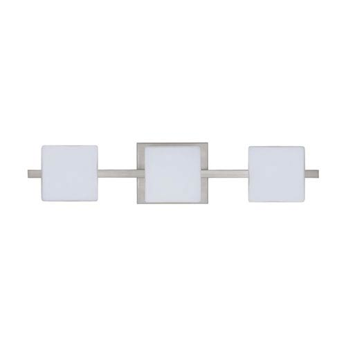 Besa Lighting WS Opal Nickel Three-Light Bath Fixture