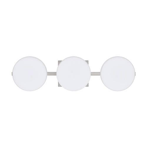 Besa Lighting WS Opal Nickel Three-Light Bath Fixture