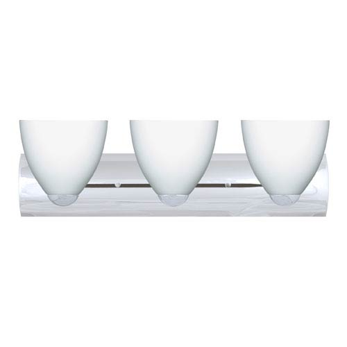 Besa Lighting Sasha Chrome Three-Light Bath Fixture with Opal Matte Glass