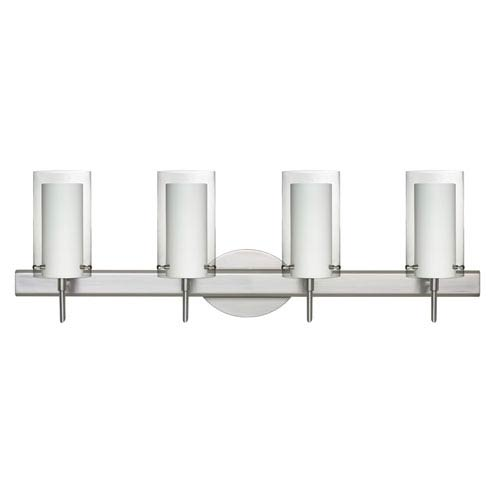 Pahu 4 Satin Nickel Four-Light LED Bath Vanity with Clear Glass
