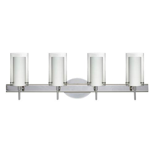 Pahu 4 Chrome Four-Light LED Bath Vanity with Clear Glass