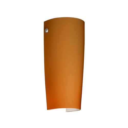 Besa Lighting Tomas Satin Nickel One-Light Sconce with Amber Matte Glass
