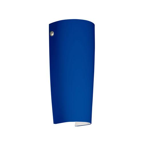 Besa Lighting Series 7041 Cobalt Blue Matte Wall Sconce