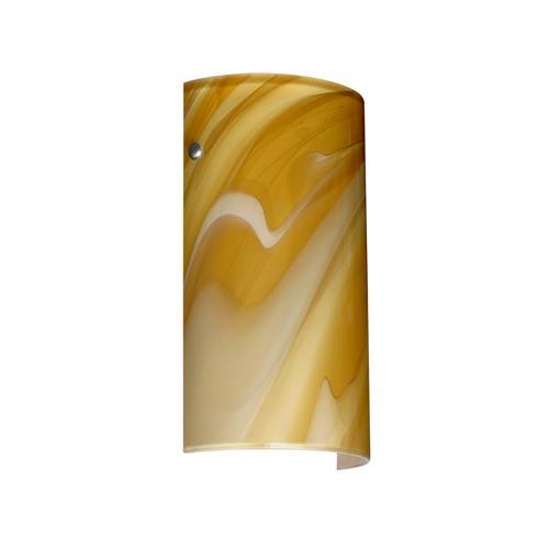 Besa Lighting Tamburo 7 Satin Nickel One-Light Sconce with Honey Glass