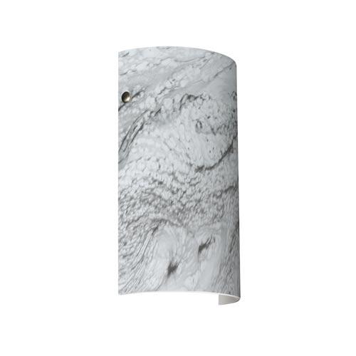Besa Lighting Tamburo 7 Satin Nickel One-Light Sconce with Marble Grigio Glass