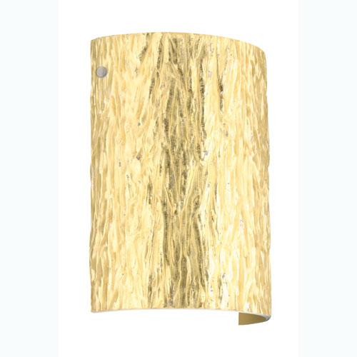 Besa Lighting Tamburo 8 Stone Gold Foil Satin Nickel Sconce