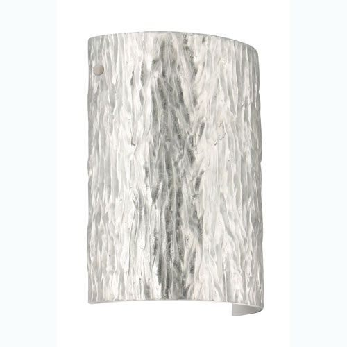 Tamburo 8 Stone Silver Foil Satin Nickel Sconce