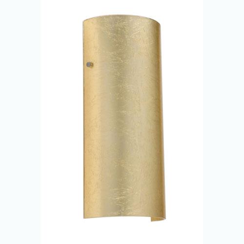 Besa Lighting Torre Gold Foil Satin Nickel Sconce