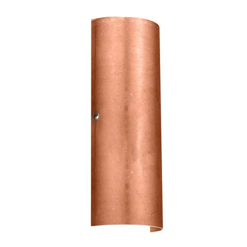 Torre 18 Satin Nickel Two-Light LED Bath Sconce with Copper Foil Glass