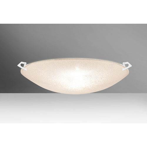Sonya 20 White Three-Light LED Flush Mount with Glitter Glass