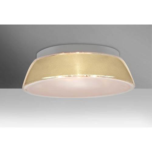 Pica 20 Creme Sand Three-Light LED Flush Mount