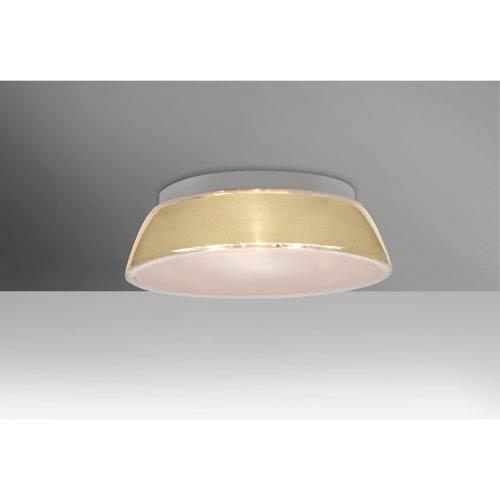 Pica 14 Creme Sand One-Light LED Flush Mount