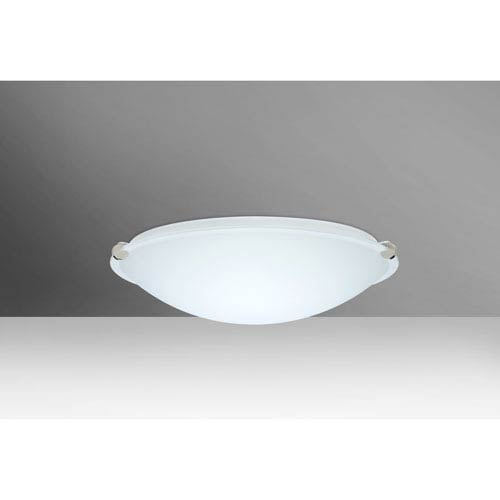 Trio 12 Polished Nickel One-Light LED Flush Mount with White Glass
