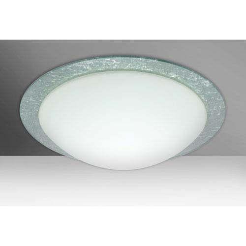 Ring 19 White Three-Light LED Flush Mount with Silver Foil Accent