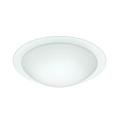 Besa Lighting Ring Aluminum Two-Light Incandescent 120v Flush Mount with White and Clear Glass