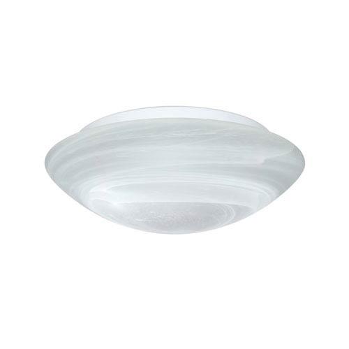 Besa Lighting Nico Aluminum Two-Light Incandescent 120v Flush Mount with Marble Glass