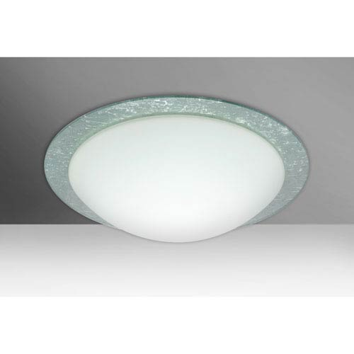 Ring 15 White Two-Light LED Flush Mount with Silver Foil Accent