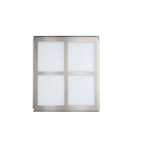 Besa Lighting Bree Brushed Aluminum One-Light Incandescent Wall Sconce with Satin White Glass