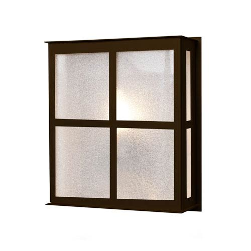 Bree 11 Bronze One-Light Outdoor Wall Sconce with Glitter Glass