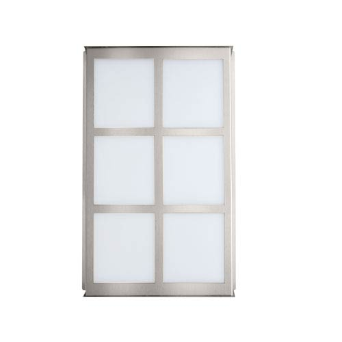 Besa Lighting Bree Brushed Aluminum Two-Light Incandescent Wall Sconce with White Acrylic Shade