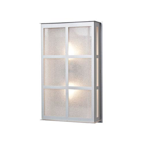 Bree 16 Brushed Aluminum Two-Light Outdoor Wall Sconce with Glitter Glass