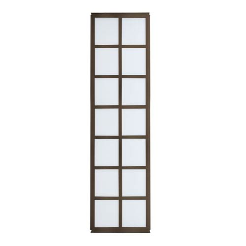 Besa Lighting Bree 38 Bronze Three-Light Incandescent Wall Sconce with White Acrylic Shade