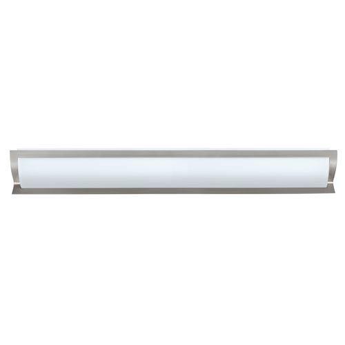 Elana Satin Nickel Five-Light Bath Fixture with Satin White Glass