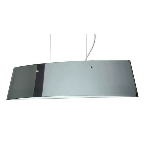 Silhouette 28 Polished Nickel Three-Light LED Linear Pendant with Mirror Frost Glass