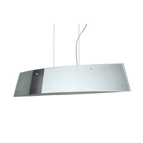 Silhouette 28 Polished Nickel Four-Light LED Linear Pendant with Mirror Frost Glass