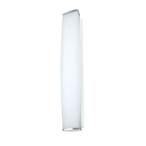 Besa Lighting Miranda Chrome Three-Light Incandescent Wall Sconce with Satin White Glass
