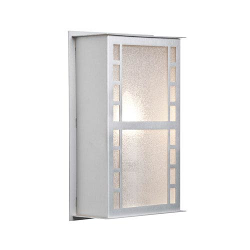 Napoli 11 Brushed Aluminum One-Light LED Outdoor Wall Sconce with Glitter Glass