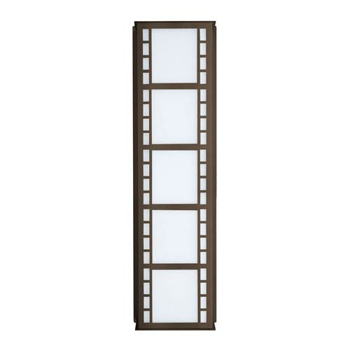 Napoli 26 Bronze Three-Light Incandescent Wall Sconce with White Acrylic Shade
