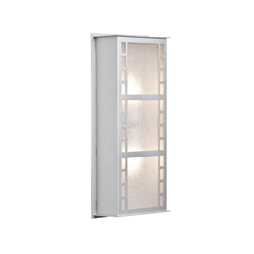 Napoli 16 Brushed Aluminum Two-Light LED Outdoor Wall Sconce with Glitter Glass
