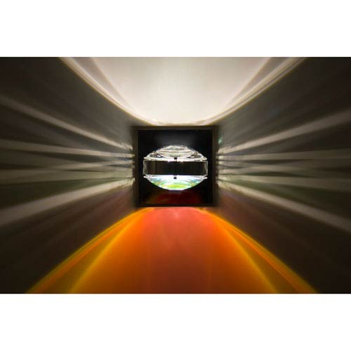 Optos Chrome One-Light LED Wall Sconce with Clear and Warm Dicro Lenses