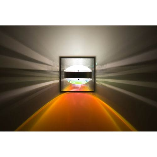 Besa Lighting Optos Brushed Aluminum One-Light LED Wall Sconce with Frost and Warm Dicro Lenses