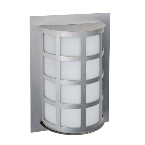 Besa Lighting Scala Brushed Aluminum One-Light Incandescent Wall Sconce with Satin White Glass