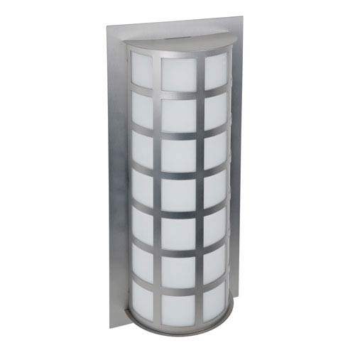 Scala 20 Brushed Aluminum Two-Light LED Outdoor Wall Sconce with Satin White Glass