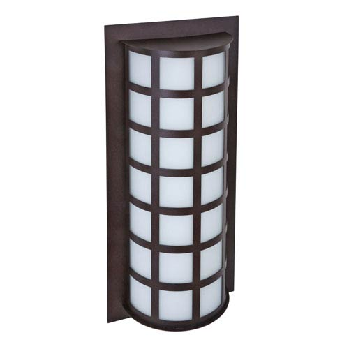 Besa Lighting Scala Bronze Two-Light Incandescent Wall Sconce with Satin White Glass