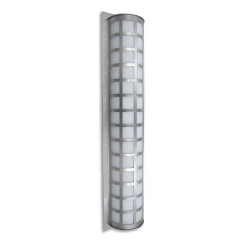 Scala 40 Brushed Aluminum Three-Light LED Outdoor Wall Sconce with White Acrylic Glass