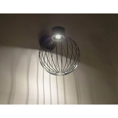 Sultana Black 10.One-Light LED Outdoor Wall Sconce with Black Glass