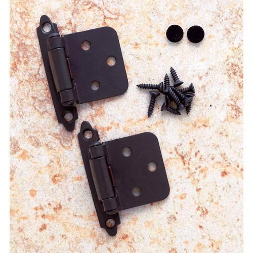 Pair of Oil Rubbed Bronze Flush Self-Closing Hinges