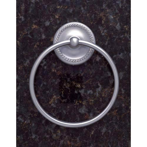 Roped Pewter Towel Ring