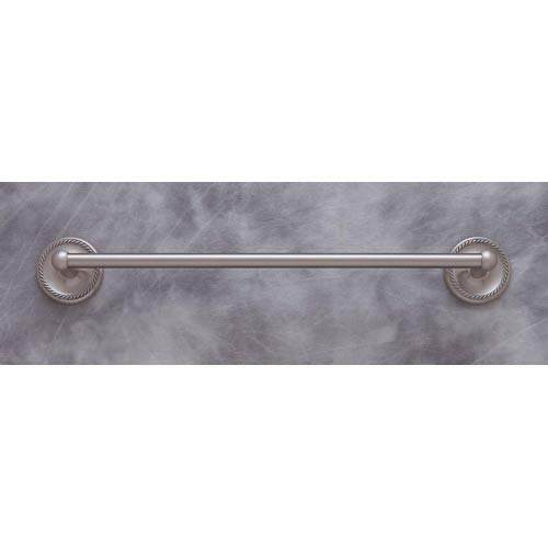 Roped Pewter 24-Inch Towel Bar