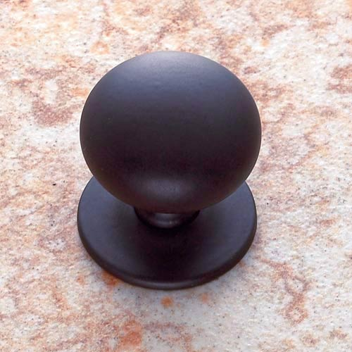Oil Rubbed Bronze 1 1/4-Inch Plymouth Knob with Back Plate